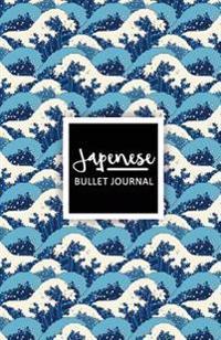 Japenese Bullet Journal: Blue Wave Japanese Style Journal - Bullet Journal Notebook (Soft Cover)