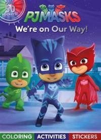 PJ Masks Were On Our Way Coloring Activities Stickers
