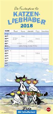 Jacob Familienplaner für Katzenliebhaber - Kalender 2018