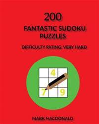 200 Fantastic Sudoku Puzzles: Difficulty Rating Very-Hard