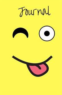 Journal: Emoji Face with Stuck-Out Tongue and Winking Eye, Blank Lined Diary Notebook for Teens, Kids or Adults