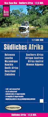 Reise Know-How Landkarte Südliches Afrika (1:2.500.000) : Botswana, Lesotho, Mosambik, Namibia, Simbabwe, Südafrika, Swasiland