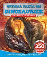 Grymma fakta om dinosaurier – pysselbok med klistermärken