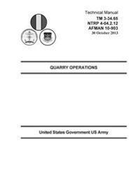 Technical Manual TM 3-34.65 Ntrp 4-04.2.12 Afman 10-903 Quarry Operations 30 October 2013