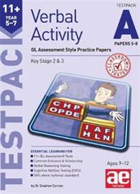 11+ verbal activity year 5-7 testpack a papers 5-8 - gl assessment style pr