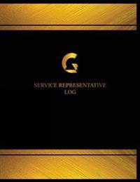 Service Representative Log (Log Book, Journal - 125 Pgs, 8.5 X 11 Inches): Service Representative Logbook (Black Cover, X-Large)
