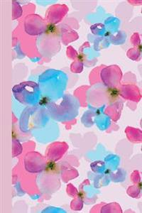 Journal: Watercolor Spring Flowers (Pink) 6x9 - Graph Journal - Journal with Graph Paper Pages, Square Grid Pattern