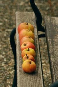 Organic Red Windfall Apples on a Garden Bench Harvest Journal: 150 Page Lined Notebook/Diary