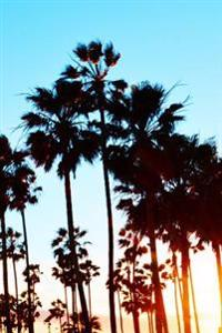 Journal: Silhouette of Palm Trees, Venice Beach, 6x9, 150 Blank Sheets