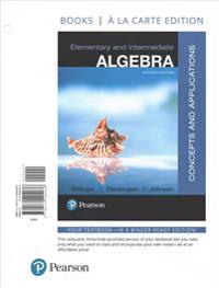 Elementary and Intermediate Algebra: Concepts and Applications, Books a la Carte Edition Plus Mylab Math -- Access Card Package