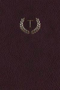 Monogram T Meeting Notebook