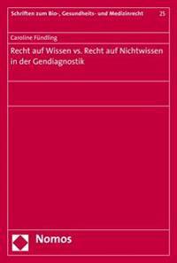 Recht Auf Wissen vs. Recht Auf Nichtwissen in Der Gendiagnostik
