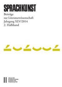 Sprachkunst: Beitrage Zur Literaturwissenschaft
