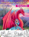 Fantasy World. Grayscale Coloring Book: Adult Coloring Book