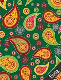 Paisley Notebook Collection: Design 3, Journal/Diary, Wide Ruled, 100 Pages, 8.5 X 11, (Paisley Art)