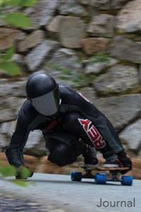 Journal: Two Male Longboard Racers: Two Longboard Racing Men Blank Lined Journal