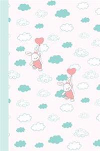 Journal: Bunnies with Balloons 6x9 (Diary, Notebook)