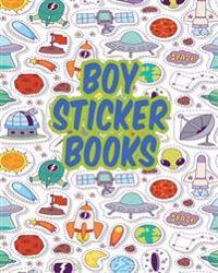 Boy Sticker Books: Blank Permanent Sticker Book