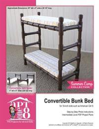 Convertible Bunk Bed: Intermediate-Level PVC Project for 18-Inch Dolls