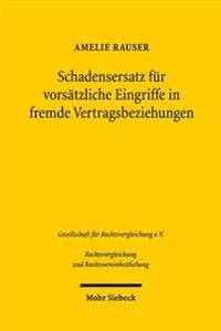 Schadensersatz Fur Vorsatzliche Eingriffe in Fremde Vertragsbeziehungen: Eine Vergleichende Untersuchung Des Englischen Und Deutschen Rechts