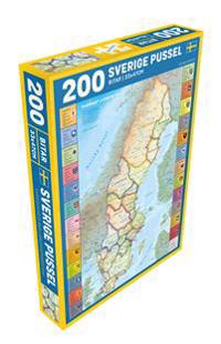 Sverige med landskap Pussel 200 bitar