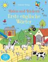 Malen und Stickern: Erste englische Wörter