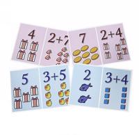 Veselaja matematika dlja detej. Slozhenie i prochie matematicheskie zadachki (nabor iz 20 kartochek + marker)