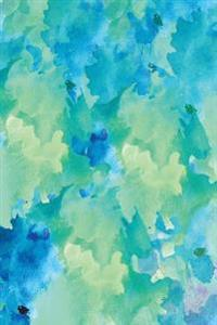 Journal: Blue Green Abstract 6x9 - Graph Journal - Journal with Graph Paper Pages, Square Grid Pattern