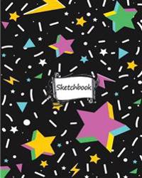 Sketchbook: Star Wallpaper No.3: 100+ Pages of 8 X 10 Blank Paper for Drawing, Doodling or Sketching (Sketchbooks)