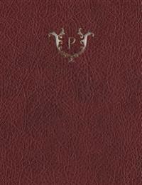 """Monogram """"P"""" Grid Sketchbook"""