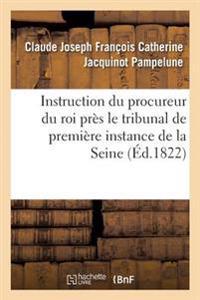 Instruction Du Procureur Du Roi Pres Le Tribunal de Premiere Instance Du Departement de