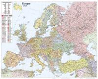 Eurooppa + Venäjä valtiollinen seinäkartta 1:5 000 000