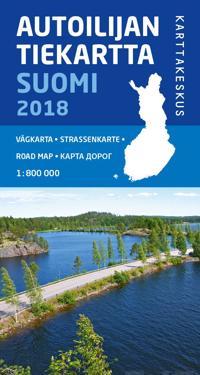 Autoilijan Tiekartta Suomi 2018