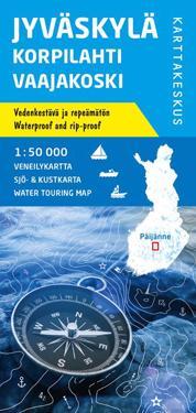 Jyväskylä-Korpilahti-Vaajakoski veneilykartta 1:50 000