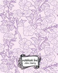 Journal Notebook Diary: Petunia Flower: Notebook Journal Diary, 120 Lined Pages, 8 X 10