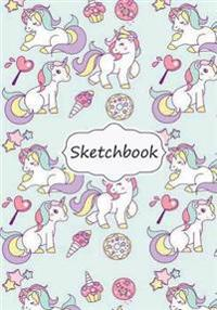 Sketchbook: Cutie Unicorn (Vol.2): 100+ Pages of 7 X 10 Blank Paper for Drawing, Doodling or Sketching (Sketchbooks)