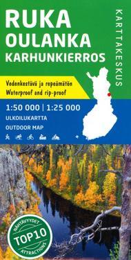 Ruka-Oulanka-Karhunkierros ulkoilukartta 1:50 000 / 1: 25 000