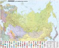 Venäjä ja lähialueet seinäkartta 1:8 000 000