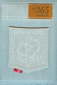 Raamattu (Vaalea farkku, kangaskannet, tasku, vetoketju)