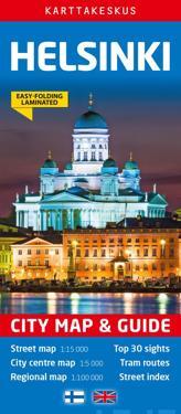 Helsinki City Map & Guide, 1:15 000/1:100 000/1:5000
