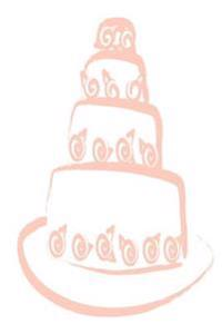 Wedding Journal Peach Wedding Cake: (Notebook, Diary, Blank Book)