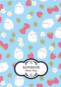 "Notebook: Rabbit and Strawberry: Pocket Notebook Journal Diary, 110 Pages, 7"" X 10"" (Notebook Lined, Blank No Lined)"