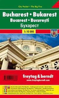 Bukarest, Stadtplan 1:10.000. City Pocket + The Big Five