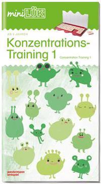 miniLÜK Konzentrationstraining 1: für Vor- und Grundschulkinder / concentration training