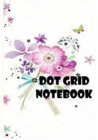 Dot Grid Notebook: Beautiful Flowers Vol.2: 110 Dot Grid Pages, 7 X 10