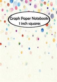 Graph Paper Notebook: 1 Inch Squares: Stains: Graph Paper, 1 Squares. 110 Pages of 7 X 10