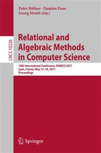 Relational and Algebraic Methods in Computer Science