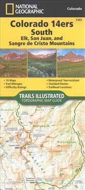 National Geographic Trails Illustrated Topographic Map Guide Colorado 14ers South