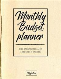 My Home Budget Planner: Monthy Bill Organizer & Expense Tracker Book, Light Kraft Tough Matte Cover Design