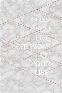 Bullet Journal: Live Your Life - 150 Dot Grid Pages - Size 6x9 Inches -: Great as a Design Book, Work Book, Planner, Dotted Notebook,